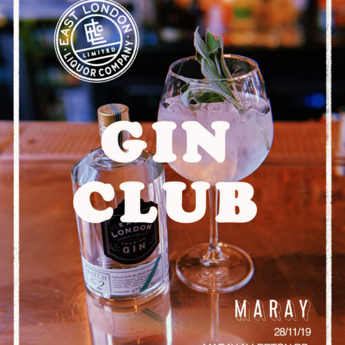 THE RETURN OF GIN CLUB AT ALLERTON ROAD